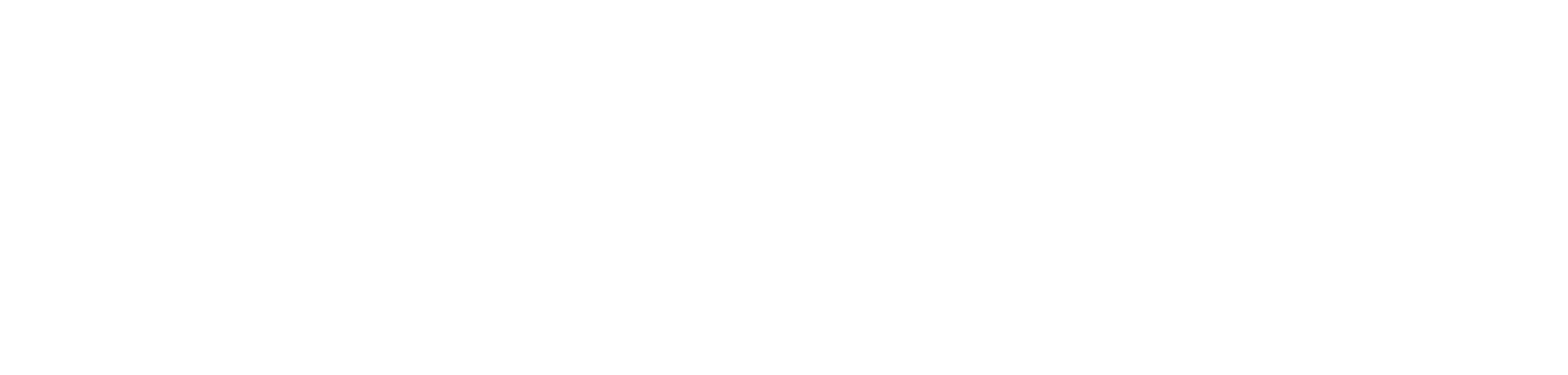 Abbots Green Logo, Luxury holiday lodges in North Yorkshire