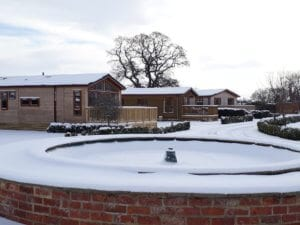 A layer of snow in North Yorkshire at Abbots Green