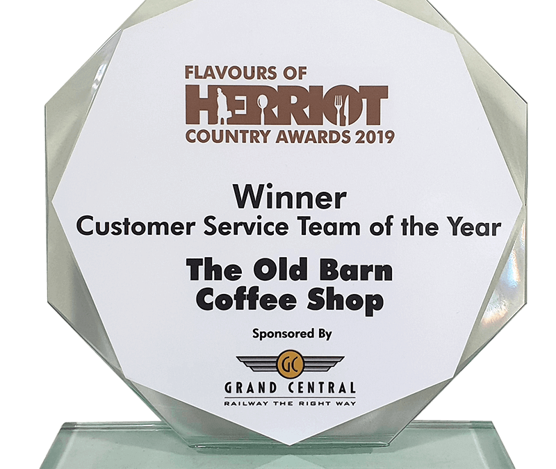 The Old Barn Coffee Shop has won the Customer Service Team of the Year accolade at the Flavours of Herriot Country Awards